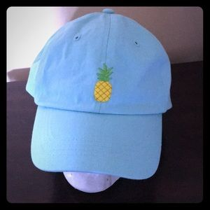 Accessories - NWT Embroidered Pineapple Hat Velcro Strap